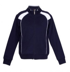 Track Top Jacket Navy and White
