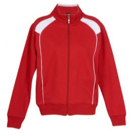 Track Top Jacket Red and White
