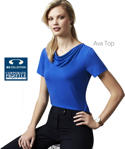 Ava Ladies Top #K625LS available in 7 Colours