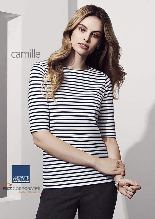 Boat Neck Top #44113 Camille Top With Logo Service 500px