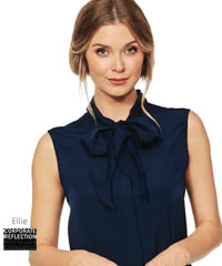 Ellie-Blouse-with-NeckTie-#6090N91-Staff-Uniforms