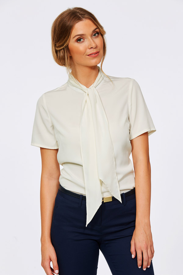 Corporate Reflection Womens Short Sleeve #6090S91 Ellie Vanilla Top 420px