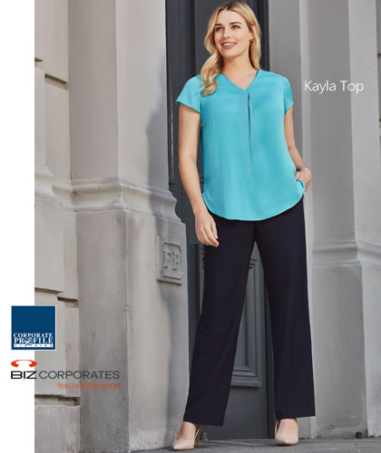 Womens Corporate Tops #RB967 Kayla Aqua at Corporate Profile