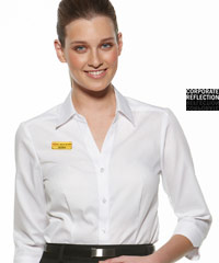 No-See-Through-White-Serenity-Uniform-Shirts-#6200Q33-With-Logo-Service
