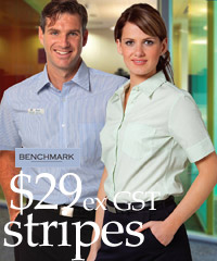 Womens Benchmark Uniform Shirts range